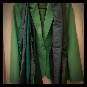 Womens Vintage Green Blazer